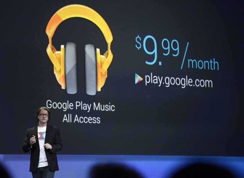 """Chris Yerga, engineering director for Android, described Google's new service as """"radio without rules."""" """"This is as lean-back as you want or as interactive as you want,"""" he said."""