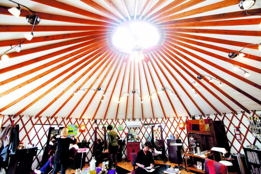 The interior of a Yurt at Lemongrass Salon and Spa, on Thursday, December 16, 2010 in Encinitas.