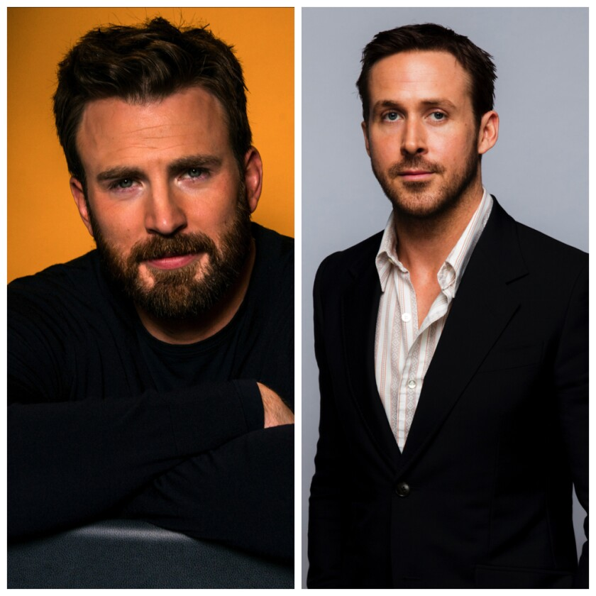 "Chris Evans, left, and Ryan Gosling will star in the Netflix movie ""Gray Man."""