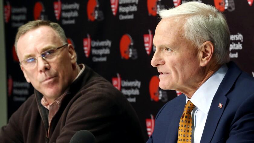 Cleveland Browns introduce new GM John Dorsey, December 8, 2017
