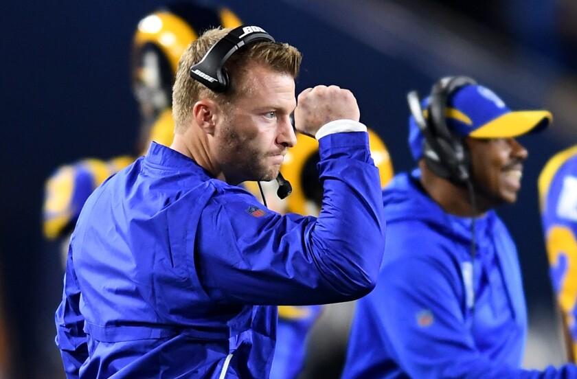 Rams head coach Sean McVay