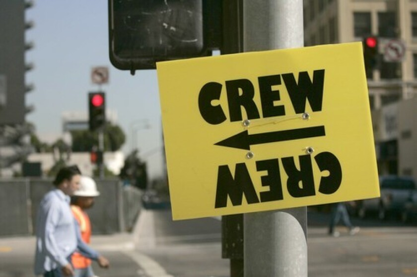 Filming in L.A faces new restrictions in light of the coronavirus pandemic.