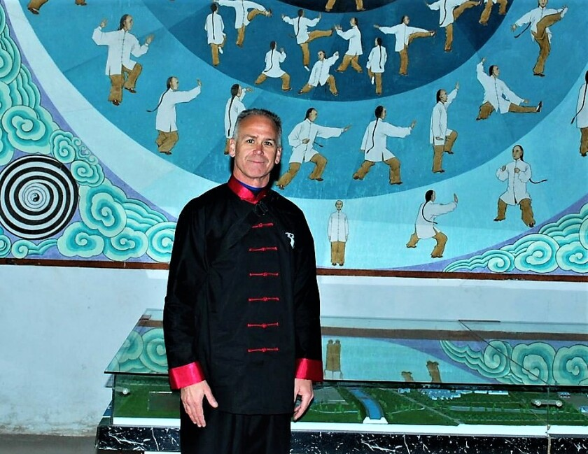 Jim Healy began working at the China Daily newspaper in 2014. This photo was taken of him wearing his tai chi uniform during a visit to Chen Village in Central China in 2010.