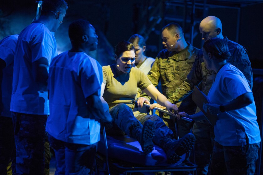 """A scene from San Diego Opera's """"The Falling and the Rising,"""" playing May 8-10, 2020, at the Balboa Theatre as part of the company's 2019-2020 Detour Series."""