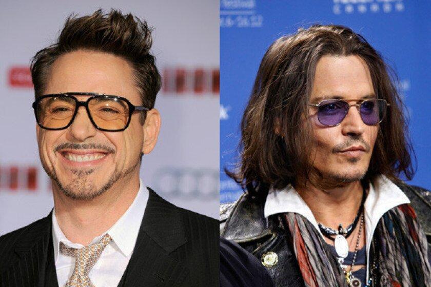 Will Robert Downey Jr. catch Johnny Depp as box-office king?