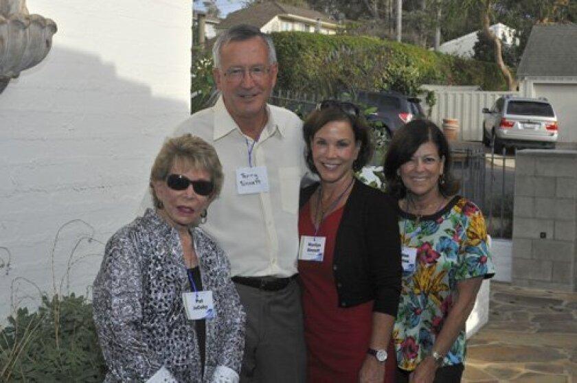 Pat JaCoby Del Mar Mayor Terry and Marilyn Sinnott, Felise Levine