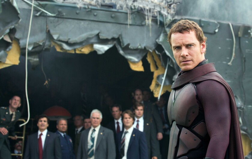 "Michael Fassbender, right, stars in ""X-Men: Days of Future Past."" The latest ""X-Men"" franchise installment was 20th Century Fox's biggest film of the year."