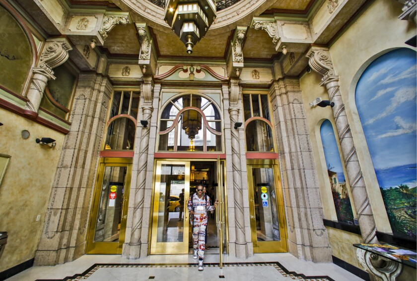 Front entrance of Cecil Hotel