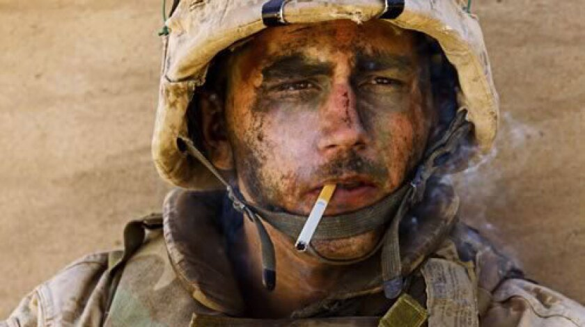 """This is the photo that made Marine Lance Cpl. Miller -- the """"Marlboro Marine"""" -- famous."""