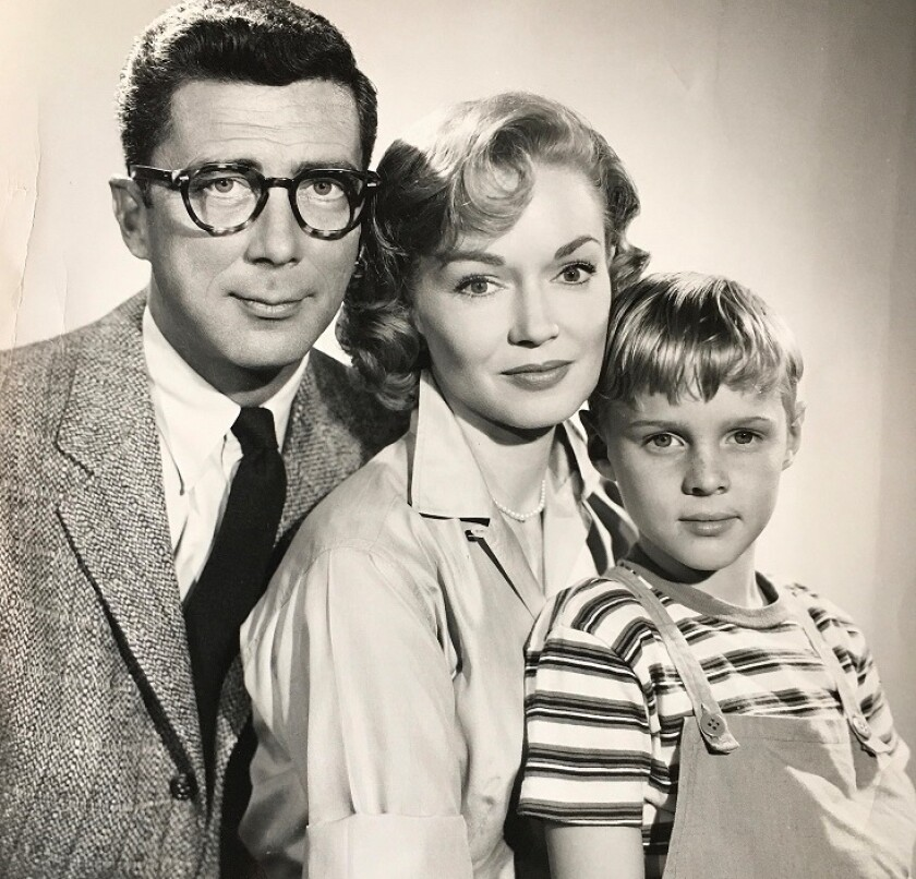 Gloria Henry with Jay North and Herbert Anderson.