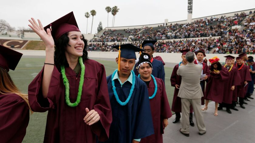 Los Angeles Unified School District students graduated in June, but now the school board wants to know what will happen to them next.