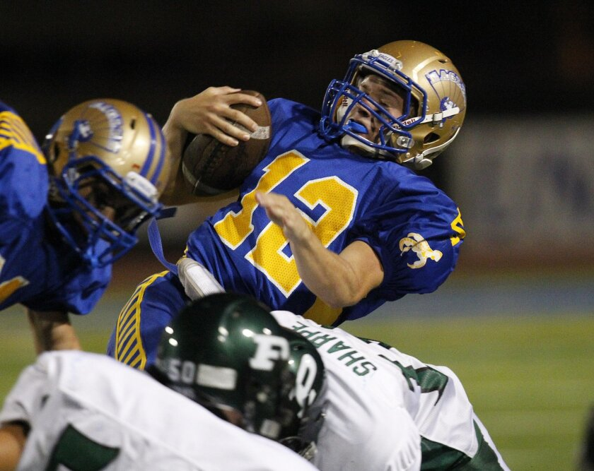 Quarterback Tyler Tony has helped lead San Pasqual to a 3-0 start and a No. 9 ranking in the San Diego Section.