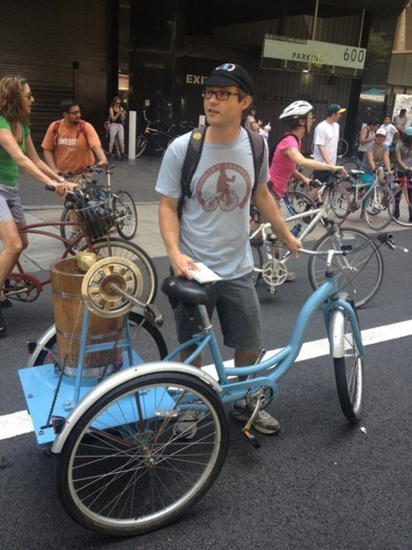 CicLAvia: Some participants enjoy pedal-powered ice cream