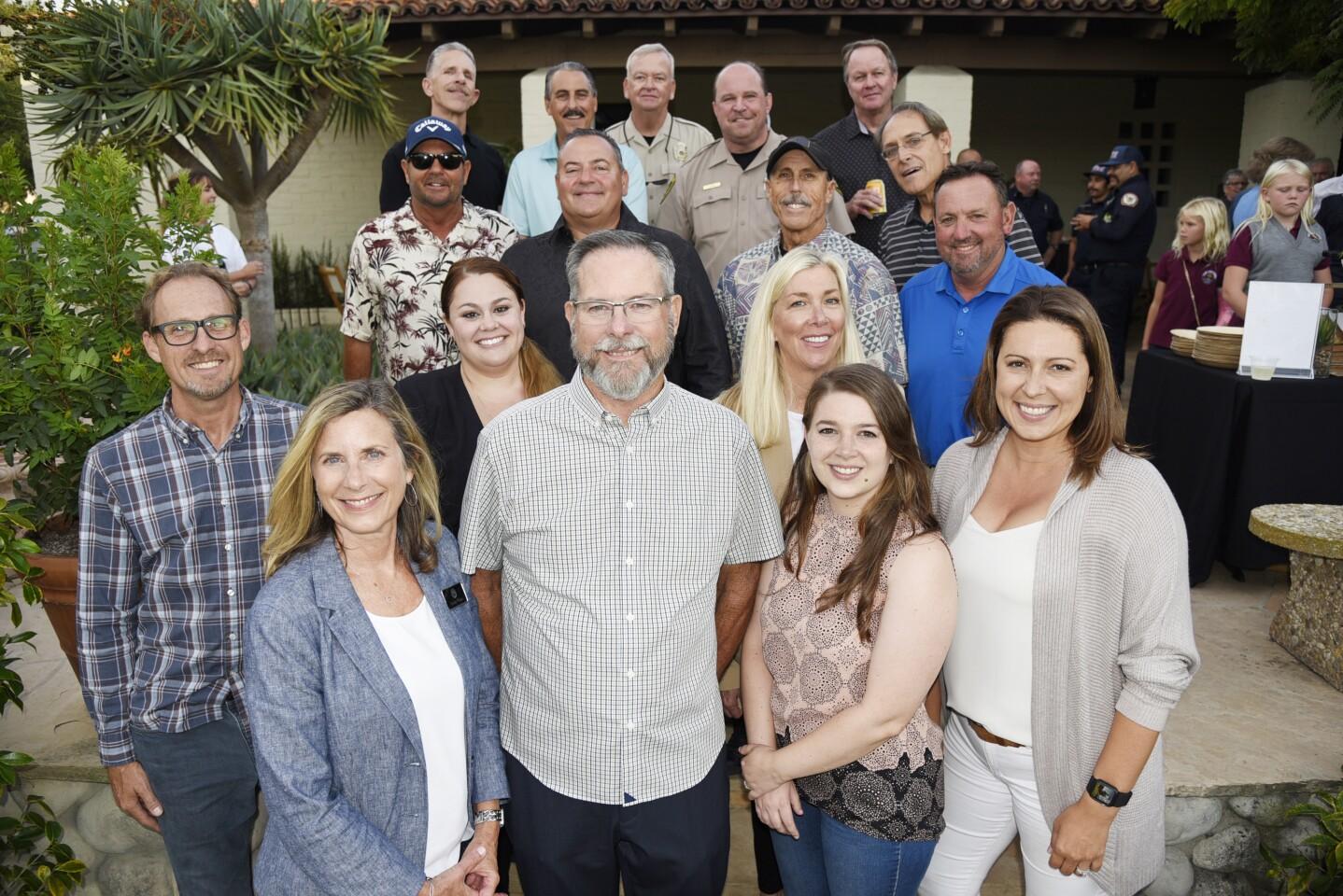 Retiring RSF Patrol Chief Matt Wellhouser (center) and the Rancho Santa Fe Association team