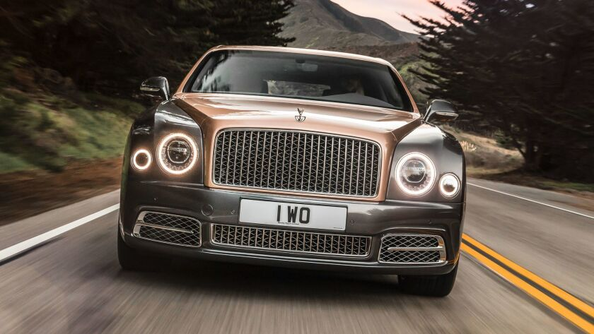 The Mulsanne was redesigned for 2017 with imposing front end dominated by a large stainless steel ve