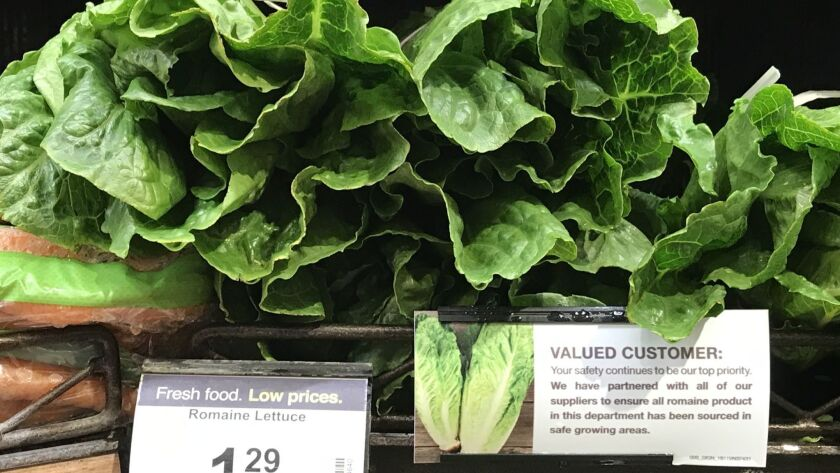Outbreak of E. coli in Salinas Valley romaine lettuce is over, CDC says