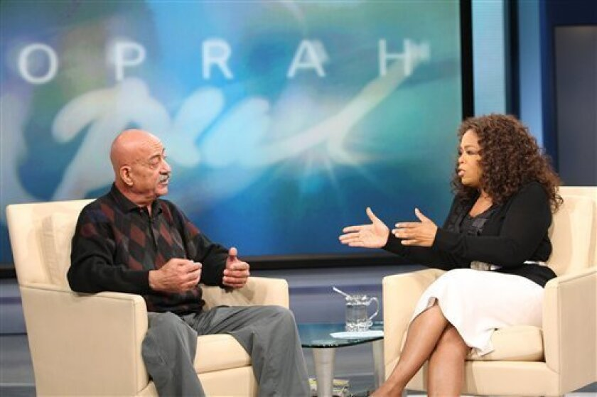 """Ed Doud, father of Nadya Suleman who gave birth to octuplets in late January 2009, tapes an interview with Oprah Winfrey to be aired on Feb. 24, 2009 in her Chicago studios on Thursday, Feb. 19, 2009. Harpo Productions says Doud calls his daughter and her doctor """"absolutely irresponsible"""" and quest"""