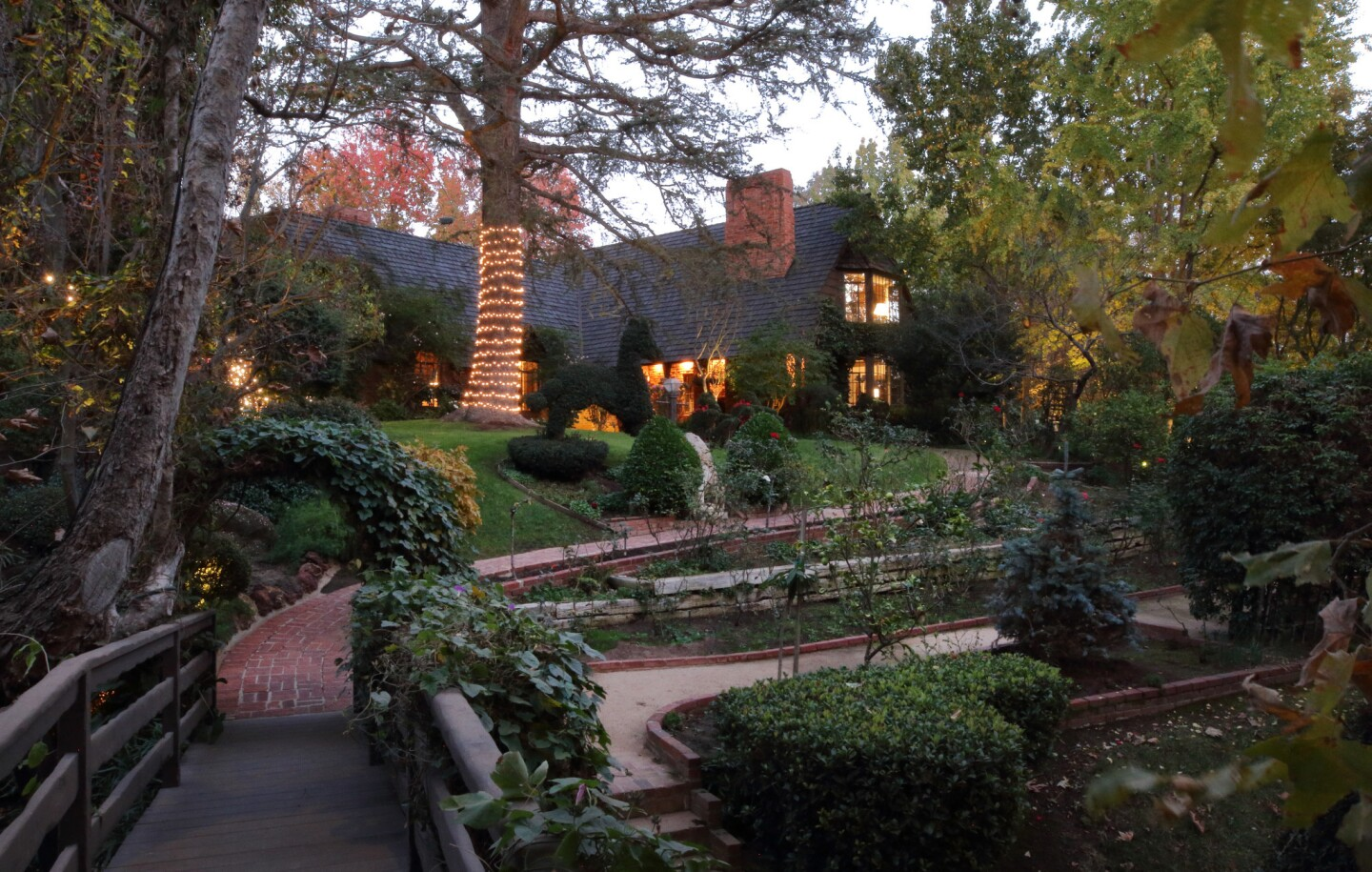 Christmases in this 1930s storybook-style home in Brentwood are a deeply ingrained tradition. Jan Stanton Holz and her husband, Richard, live here now, but the traditions began when her parents were in residence.