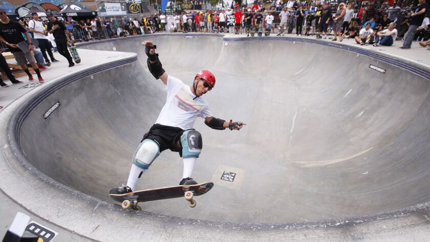 June 13, 2015_San Diego, CA_USA_ | Steve Alba, known as Salba, skates in the pool during the Clas