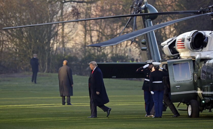 President Trump arrives Dec. 4 at a resort near London for a NATO summit.