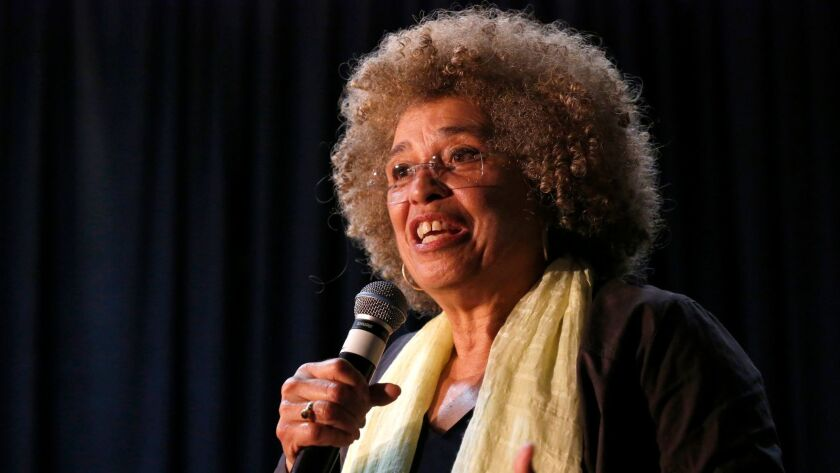Activist and scholar Angela Davis spoke at an event held at Southwestern College, where she talked about race, gender and the prison-industrial complex.