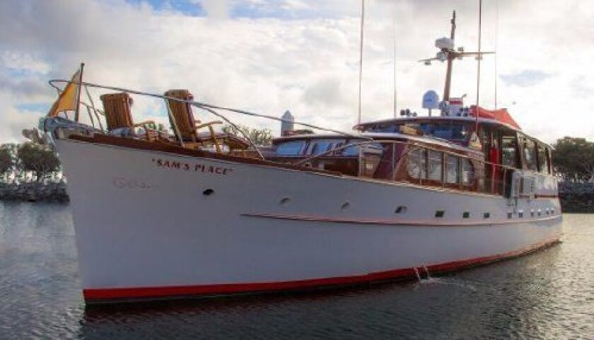 Since 1989 comedian Jerry Lewis has spent summers and some holidays living aboard his motor yacht, Sam's Place, at the Marriott Marquis marina. He is listing it for sale through Fraser Yachts.