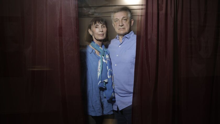 LOS ANGELES, CA -- JUNE 10, 2019: Marat Daukayev and wife Pamela own the Marat Daukayev School of Ba