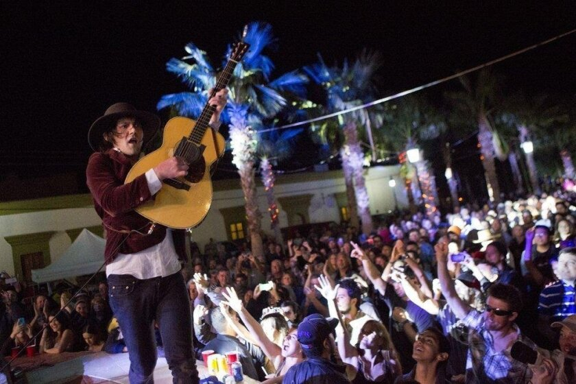 Conor Oberst performs at the Todos Santos Music Festival 2015.