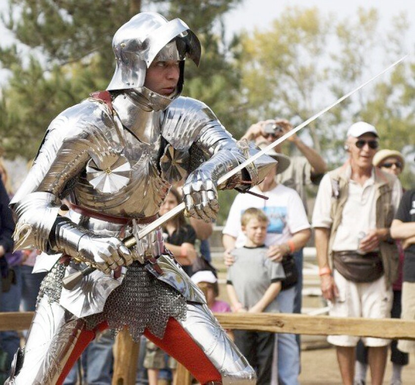 Jeffrey Hedgecock made this armour for the Frazier International History Museum in Louisville, Ky., in 2006.
