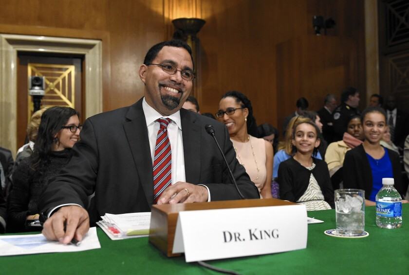 John B. King Jr. was confirmed by the Senate on March 14 after serving as acting secretary of Education.