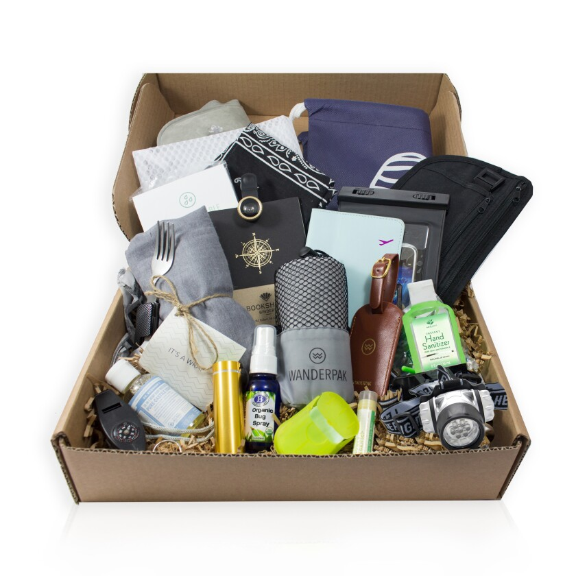 A build-your-own Wanderpak travel kit