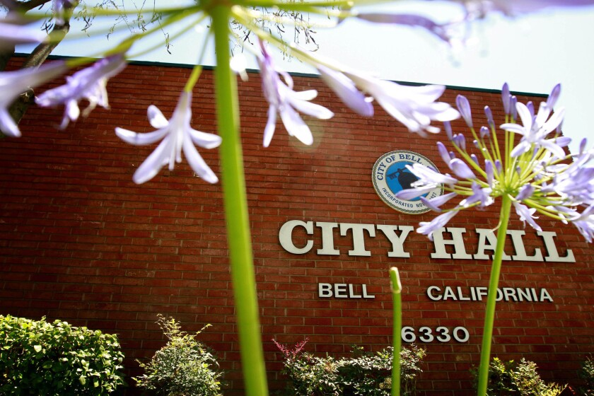 The Bell City Hall building.