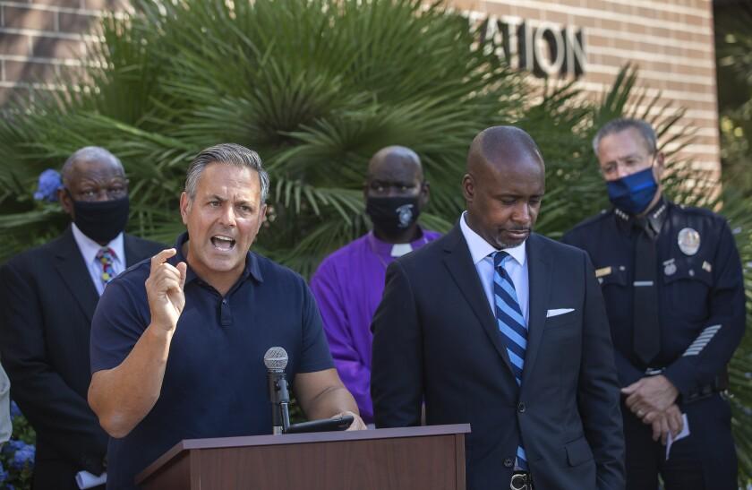 L.A. City Councilman Joe Buscaino at an October news conference.