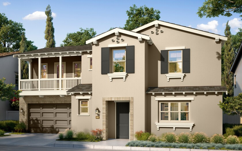 The new homes at Candela at Rancho Tesoro will open in spring. The Brookfield Residential development features 56 homes, 2,689 to 3,565 square feet.