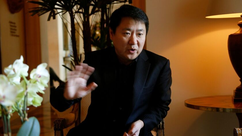 BEVERLY HILLS, CA. NOVEMBER 6, 2013-- Yu Dong, CEO of film studio and distributor Bona, who has fore