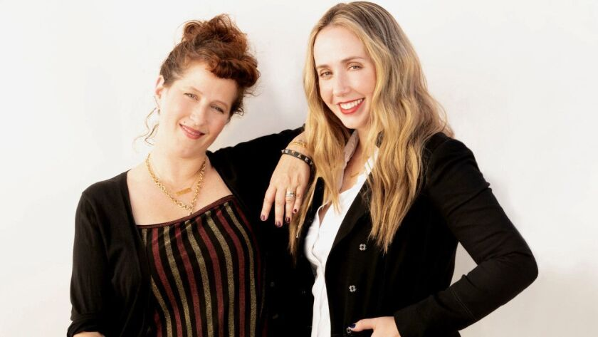 Makeup artist Molly R. Stern (left) and Sarah Chloe Jewelry designer Zahava Ryzman.