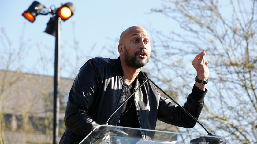 Actor Keegan-Michael Key at UTA's United Voices rally