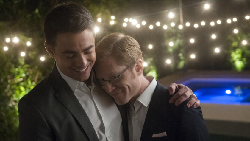 "Jonathan Bennett, left, and Anthony Rapp in the film ""Do You Take This Man."""
