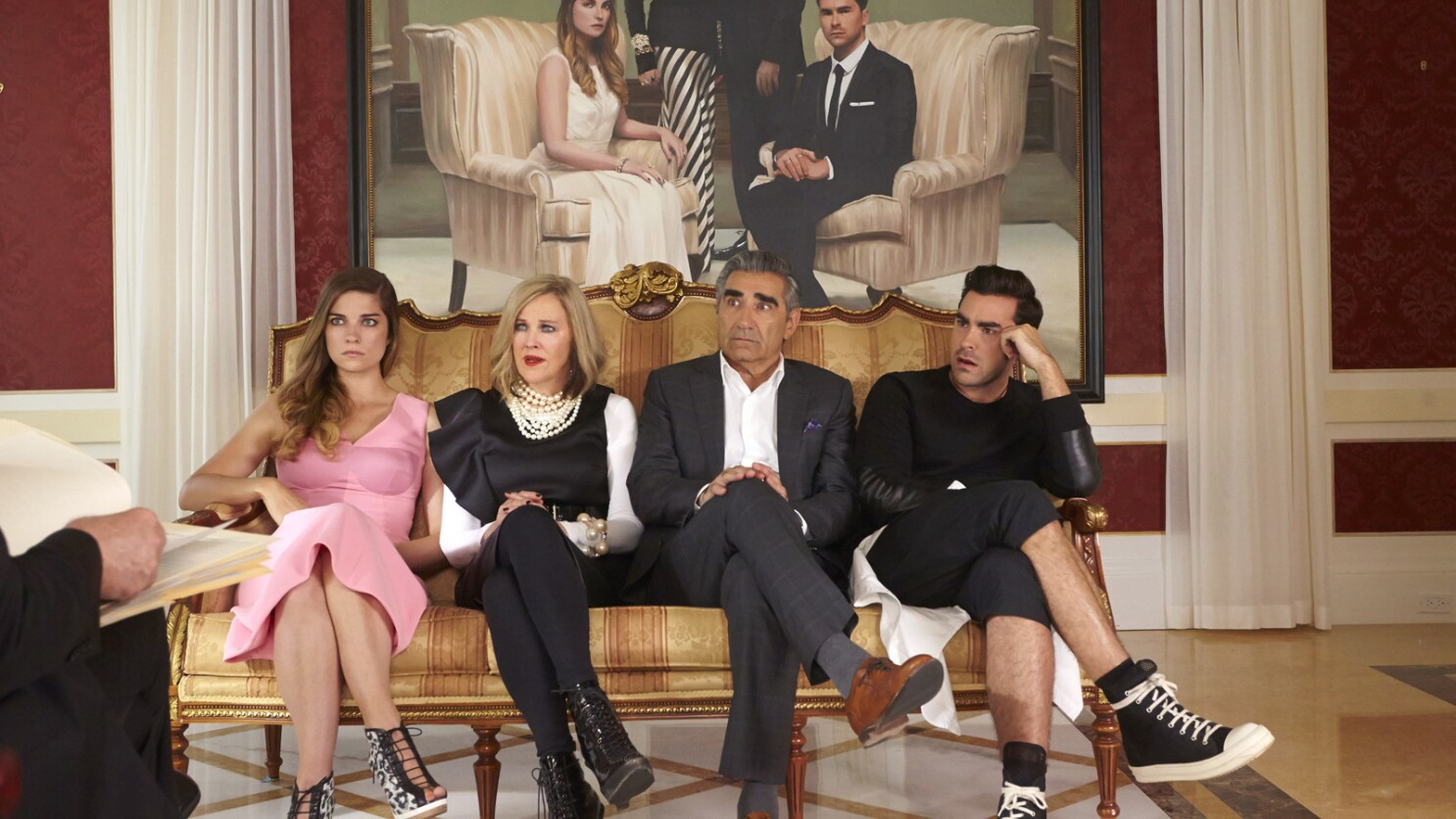 """""""Schitt's Creek"""" cast reacts to 2019 Emmy nominations - Los Angeles Times"""