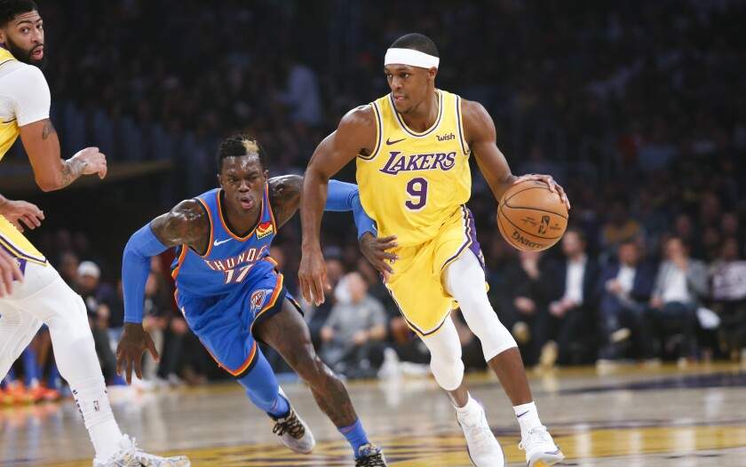 Rajon Rondo was on his game in Lakers' defeat of Thunder