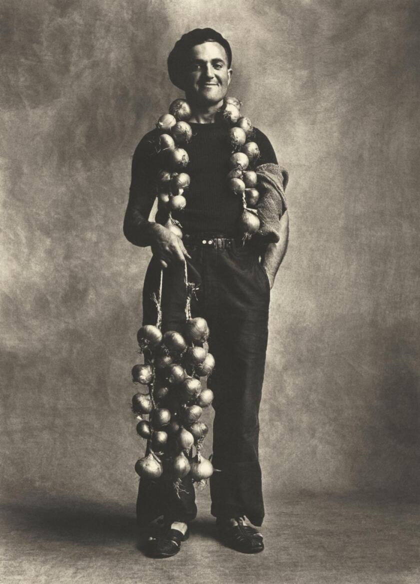 """Breton Onion Seller, London,"" 1950/1967, by Irving Penn"