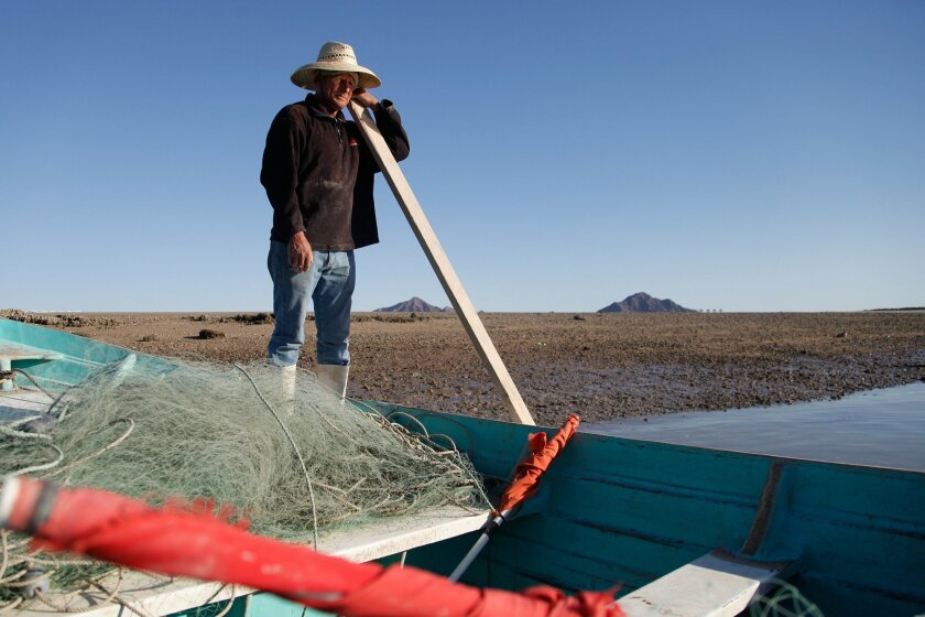In San Felipe, a fisherman sets off with his gill net to the Gulf of California. Starting April 28, the nets will be banned for a two-year period as a measure to protect the critically endangered vaquita porpoise.