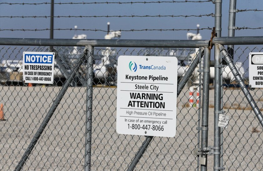 The Obama administration will deny the federal permit for the controversial Keystone XL pipeline, officials say. Above, a pumping station in Steele City, Neb., where the pipeline would connect.
