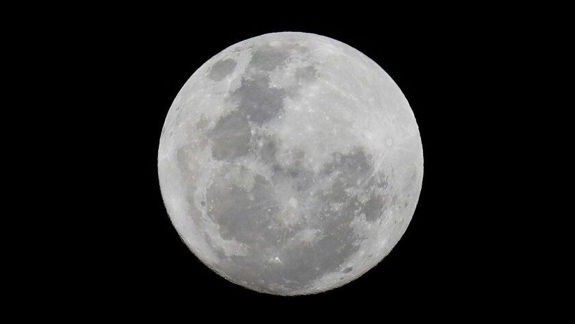 South Africa full moon, Johannesburg - 22 Nov 2018