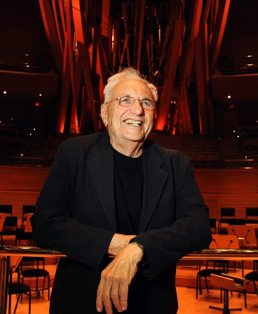 Frank Gehry, pictured inside Walt Disney Concert Hall in 2013, has won this year's J. Paul Getty Medal for career contributions to visual art.