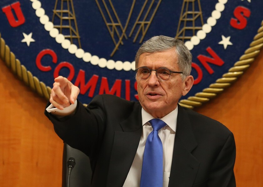 Federal Communications Commission Chairman Tom Wheeler leads a hearing on net neutrality Thursday at FCC headquarters in Washington, D.C.