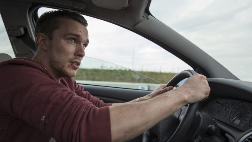 "Nicholas Hoult in the film ""Collide."""