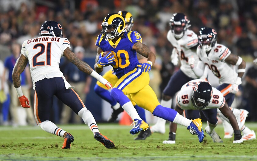 Rams running back Todd Gurley had his best game of the season during a 17-7 victory over the Chicago Bears.