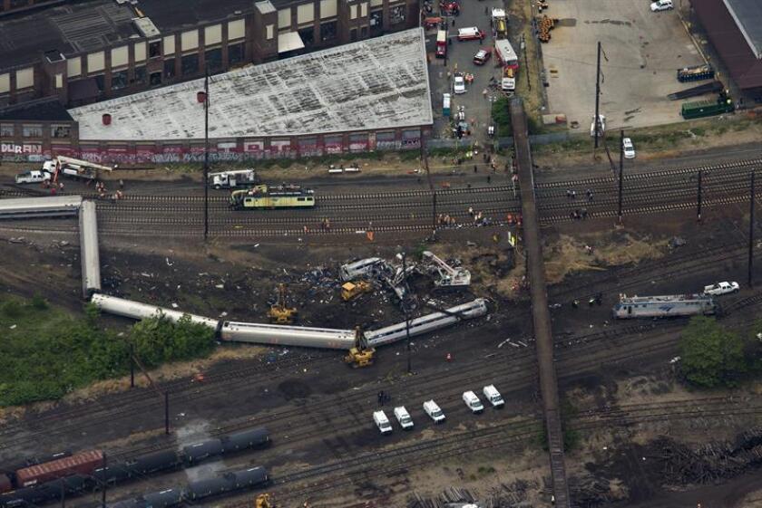 Al menos dos personas resultaron heridas al descarrilarse un tren en el estado de Nueva York, informaron hoy medios locales, e indicaron que en el lugar se desató un incendio sin mayores consecuencias. EFE/ARCHIVO
