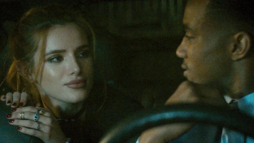 (L-R) Bella Thorne as Jessica and Jessie T. Usher as James in the thriller ?RIDE,? an RLJE Films rel